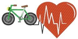 Bike Heartbeat embroidery design