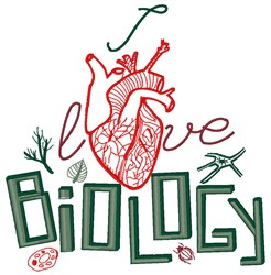 Biology embroidery design