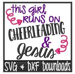 Cheerleading & Jesus embroidery design