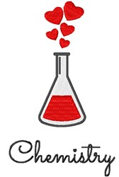 Chemistry embroidery design