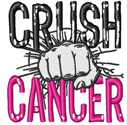 Crush Cancer embroidery design