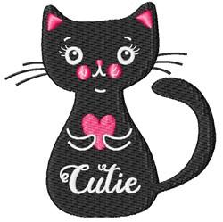 Cutie Cat embroidery design