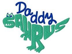 Daddy Saurus embroidery design