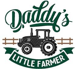 Daddys Little Farmer embroidery design