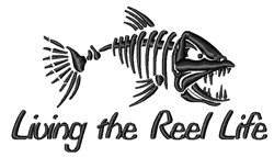 The Reel Life embroidery design