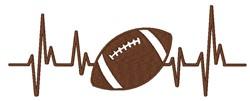 Football Heartbeat embroidery design
