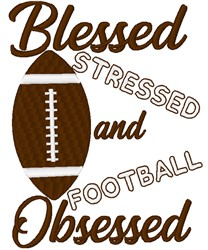 Football Obsessed embroidery design