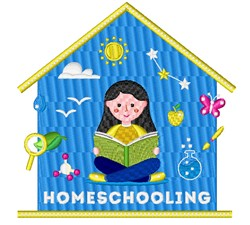 Homeschooling embroidery design