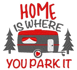 Home Park It embroidery design