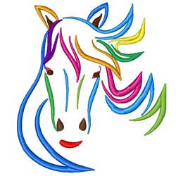 Colorful Horse embroidery design