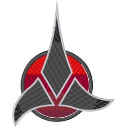 Klingon Symbol embroidery design