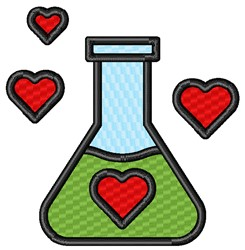 Love Science embroidery design