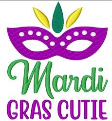 Mardi Gras Cutie embroidery design