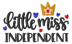 Little Miss Independent embroidery design