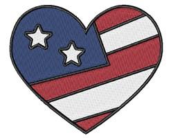 USA Heart embroidery design