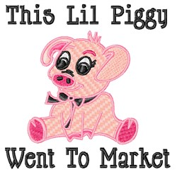 This Lil Piggy embroidery design