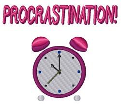 Procrastination embroidery design
