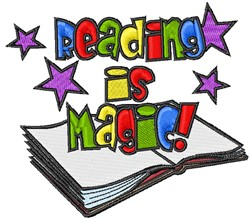 Reading Is Magic embroidery design