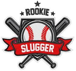 Rookie Slugger embroidery design