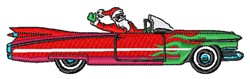 Convertible Santa embroidery design