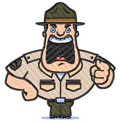 Drill Sergeant embroidery design