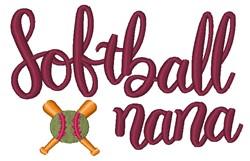 Softball Nana embroidery design