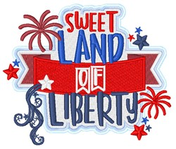 Land Of Liberty embroidery design