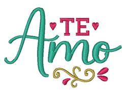 Te Amo embroidery design
