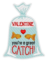 Youre A Great Catch embroidery design