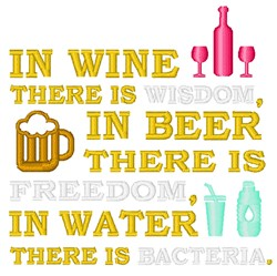 In Wine Is Wisdom embroidery design