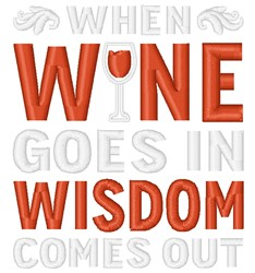 Wisdom From Wine embroidery design