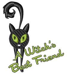 A Witches=s Best Friend embroidery design