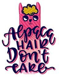 Alpaca Hair Dont Care embroidery design
