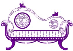 Victorian Couch Outline embroidery design