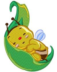 Kawaii Baby Bumblebee embroidery design