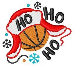 Ho Ho Ho Basketball embroidery design