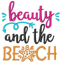 Beauty And The Beach embroidery design