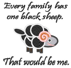 Im The Black Sheep embroidery design