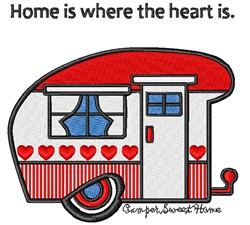 Camper Sweet Home embroidery design