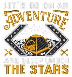 Go On An Adventure embroidery design