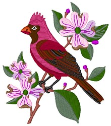 Red Cardinal embroidery design