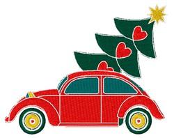 Christmas Volkswagon Beetle embroidery design