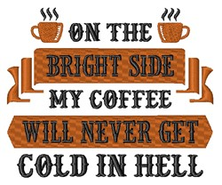 Cold Coffee In Hell embroidery design