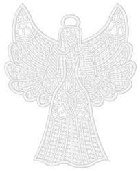 FSL Angel Ornament embroidery design