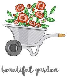 Beautiful Garden Wheelbarrow embroidery design