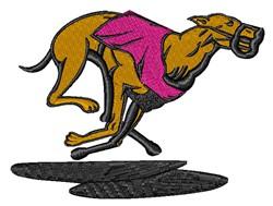 Racing Greyhound embroidery design