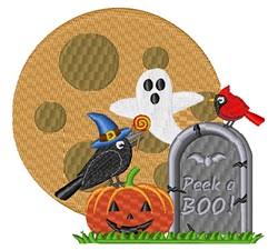 Adorable Halloween Scene embroidery design