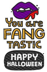You Are Fangtastic embroidery design
