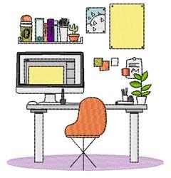 Office Scene embroidery design