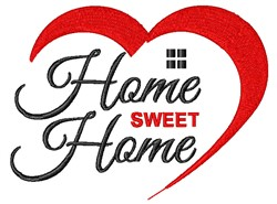 Home Sweet Home Love embroidery design